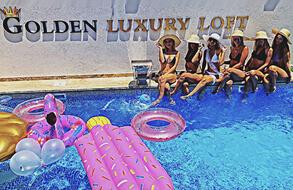 Golden luxury loft בריכה מתאימה לחורף מושב יגל
