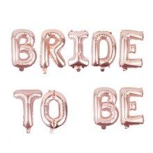 בלונים BRIDE TO BE לניפוח באוויר-רוזגולד