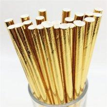 חבילת קשים בצבע זהב 25 יח'