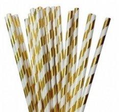 חבילת קשים ספירלה בצבע זהב 25 יח'
