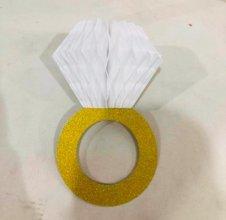 טבעת נפתחת לקישוט צבע לבן