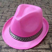 כובע ג'נטלמן ורוד בהיר