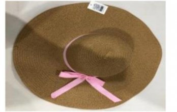 כובע קש ליידי פס ורוד