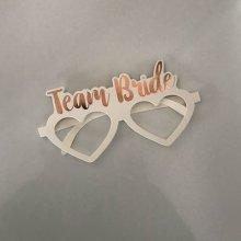 משקפיים TEAM BRIDE בצורת לב