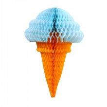 גלידה נפתחת לקישוט צבע תכלת
