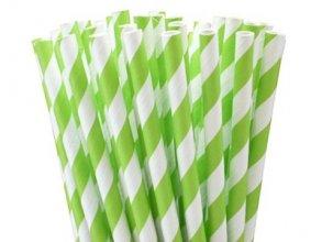 חבילת קשים ספירלה ירוק לבן 10 יח'