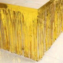 חצאית שולחן פרנזים- זהב