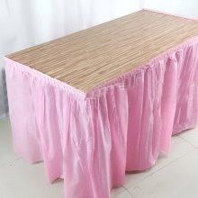 חצאית שולחן צבע ורוד