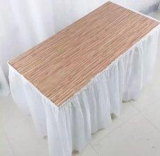 חצאית שולחן צבע לבן