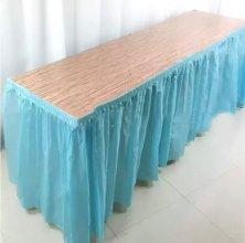 חצאית שולחן צבע תכלת