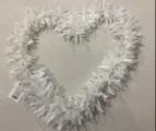 לב דקורציה לבן