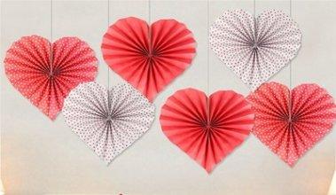מארז 6 מניפות בצורת לב
