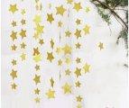 שרשרת כוכבים- זהב נצנצים