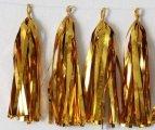 שרשרת פונפונים זהב DIY