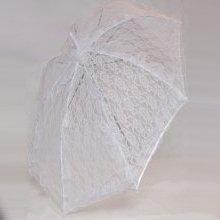 מטריה תחרה לבנה