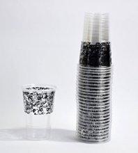 50 כוסות מעוטרות שחור