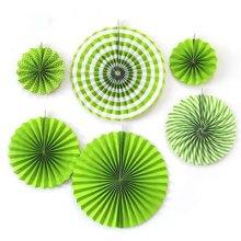 מארז 6 מניפות בגדלים שונים- ירוק