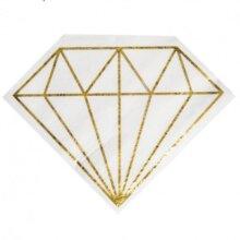 20 מפיות יהלום צבע זהב